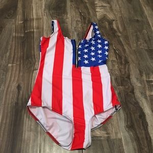 Perfect 4th of July one-piece ! Size S